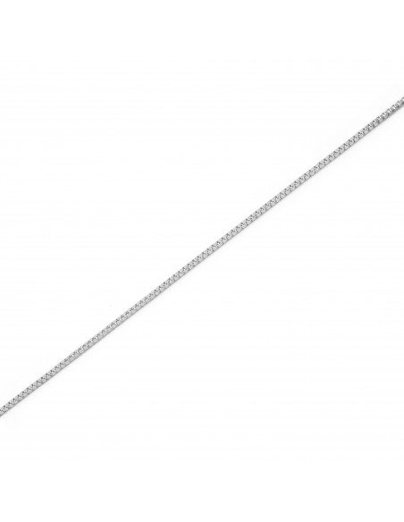 18ct White Gold Venetian Chain (40 cm)